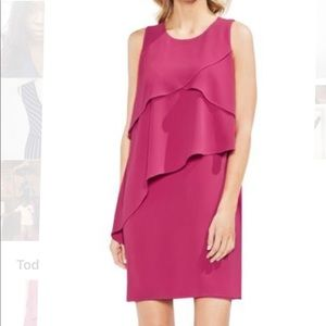 Vince Camuto Asymmetrical Tiered Shift Dress NWT